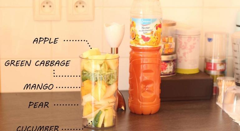 Healthy breakfast for clear skin
